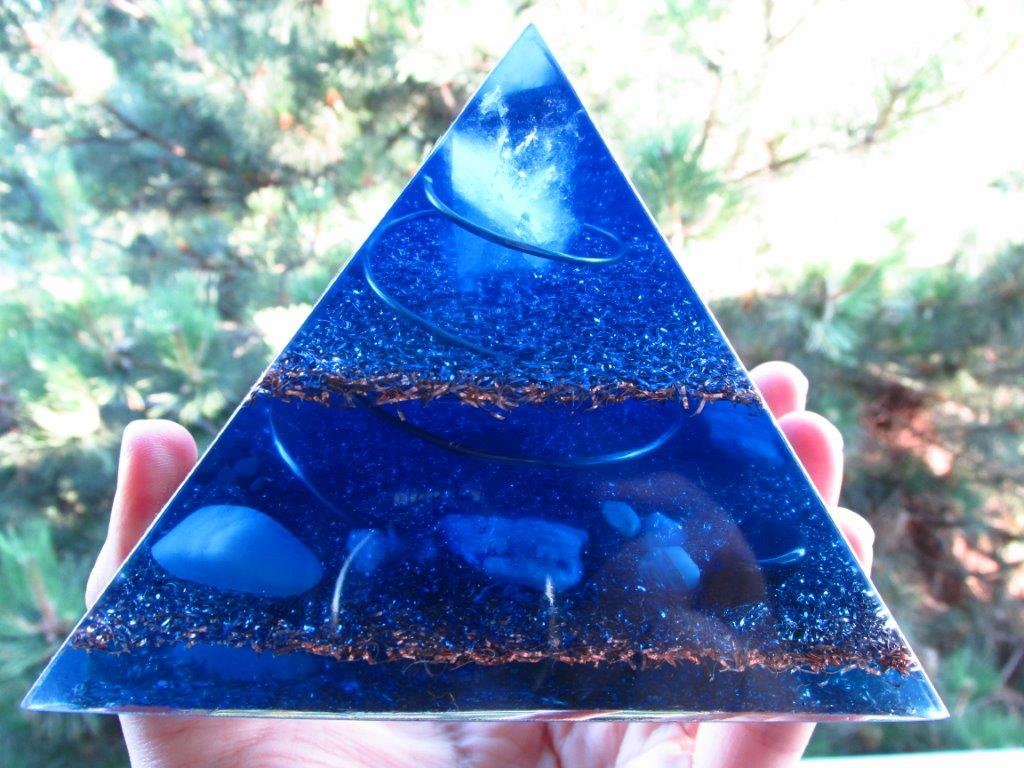 Blue Orgone Pyramid